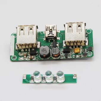双usb输出移动电源线路板