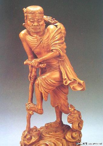 黄杨木雕老子像鉴定