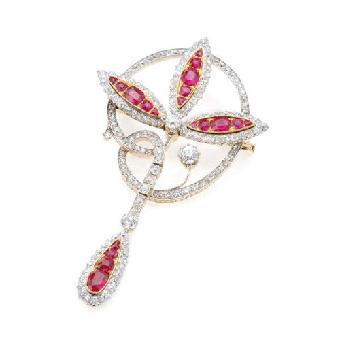 """19作品""""红宝石缎带指环"""",不仅刷新亚洲珠宝艺术家的世界拍卖记录,也图片"""