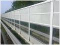濟寧高速公路聲屏障 小區隔音板 百葉PC透明聲屏障