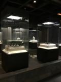 展館獨立玻璃展示柜古董展示博物館展柜定做古玩展示柜