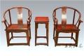 大紅酸枝圈椅家具花紋圖案精美