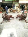 銅獅子鑄造 門前獅子 銅歐式獅子