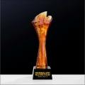 定制數字琉璃獎杯,公司周年琉璃紀念品定做,40獎杯