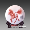 陶瓷定制裝飾陶瓷盤創意打印照片高檔禮品盤子logo