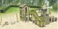 木制塑料拓展大型游樂設備 幼兒園 兒童 室外滑梯攀
