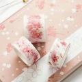 日本彩色和紙膠帶 裝飾墻紙唯美復古花花整卷定做手撕