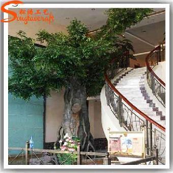 想把柱子做成大树 人造玻璃钢包柱子假树,仿真假榕树