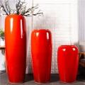 廠家直銷三件套陶瓷落地組合景觀擺件大花瓶新品上市陶