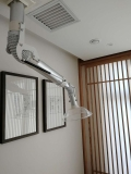 白銀象鼻式萬向抽氣罩鋁合金材質氣壓桿萬向抽氣罩
