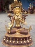 純銅白度母 純銅佛像工藝品 鑄銅佛像