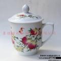 景德镇青花玲珑茶杯会议水杯陶瓷工厂