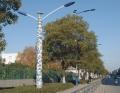 路燈陶瓷燈柱 手繪青花陶瓷訂做 景德鎮陶瓷燈柱廠家