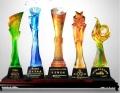 云浮琉璃獎杯單位年會獎杯年度成就獎杯共青團員獎杯