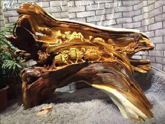红木精品摆件 太行崖柏 丝绸之路 高档工艺品