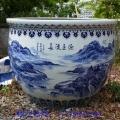 陶瓷缸廠家、陶瓷荷花缸 陶瓷睡蓮缸 青花瓷大缸