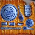 套裝碗盤家用簡約 景德鎮陶瓷碗盤組合 酒店瓷器餐具