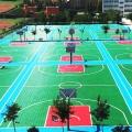 天津武清戶外羽毛球場懸浮地面鋪裝方法
