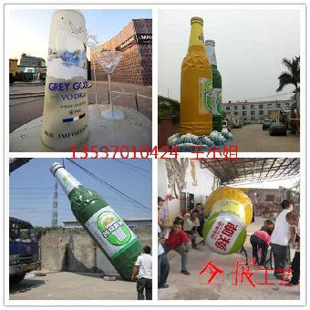 仿真啤酒瓶造型雕塑图片