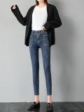 廣東牛仔褲批發市場庫存清貨女裝小腳褲幾塊錢牛仔褲