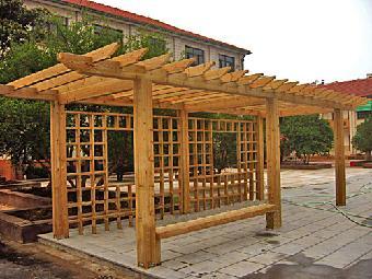 c专业定制园林雨棚,仿古凉亭,防腐木廊架,样图样品