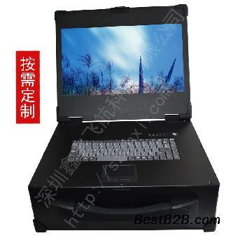 17寸3U工业便携机定制铝外壳机箱军工电脑抽拉硬盘