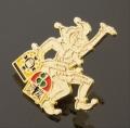 小丑鍍金徽章,江蘇徽章生產,馬戲團佩戴胸章