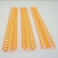 廠家供應30孔橙色塑料活頁環 圓膠圈 塑料開口膠扣