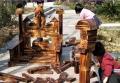 幼兒園小型木質攀爬架 兒童炭燒室外體能訓練木廠家直