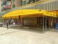 搭建活动帐篷 单排立柱折叠棚 户外单排水雨蓬