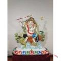 彩繪銅密宗佛像 大型藏佛定制 五姓財神雕像