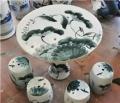 景德鎮陶瓷桌子凳子庭院擺設桌凳涼桌凳加大加厚瓷器桌