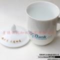 带盖新骨瓷水杯马克杯定制logo