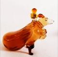 錢兜子老鼠玻璃瓶 耐高溫玻璃品加工 河間手工瓶定制