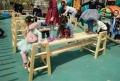 進口材質攀爬架 幼兒園游樂設施 大型防腐積木生產