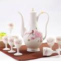廠家定制顏色釉陶瓷自動酒具 高檔白酒酒具