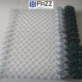 富華綠色菱形圍欄用PVC包塑鍍鋅勾花鐵絲網