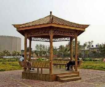 加工场地,甘肃防腐木凉亭是用防腐木组建而成,防腐木是将木材经过特殊
