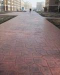 濟南壓花地坪做人工 山東壓花地坪和石板路有什么區別