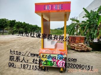 移动售货车奶茶屋活动木房子木制流动棒棒糖销售车