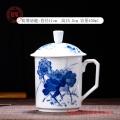 景德镇陶瓷杯子订制,手绘青花办公老板杯