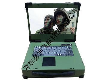 双PCIE工业便携机机箱工控一体定做军工电脑加固笔