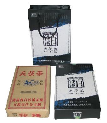 茶叶及制品 03安化黑茶金花茯砖茶 白沙溪品牌批发价格表图片