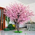 仿真桃花树加密粉红玫红色 新年许愿树店面客厅装饰仿
