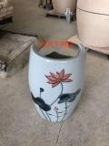 陶瓷足翁生產廠家艾葉艾草艾灸熏蒸缸蒸足桶足療磁療理