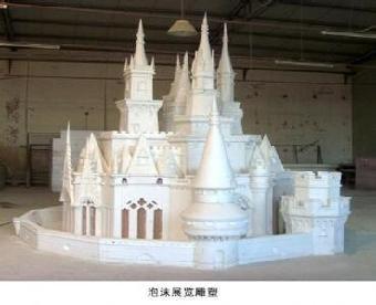 泡沫雕塑 泡沫城堡雪山雕塑 北京泡沫雕塑制作厂家