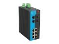 6個千兆電口4個千兆SFP插槽網管型可環網工業交換