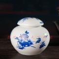 儲物景德鎮罐子帶蓋罐大號壇密封裝膏方罐調味罐青花中