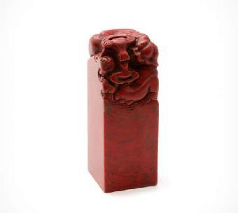 印章 鸡血石/关键字:大红袍鸡血石印章