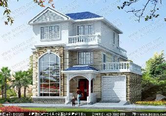 12米×14米三层地中海风格别墅自建房屋设计图